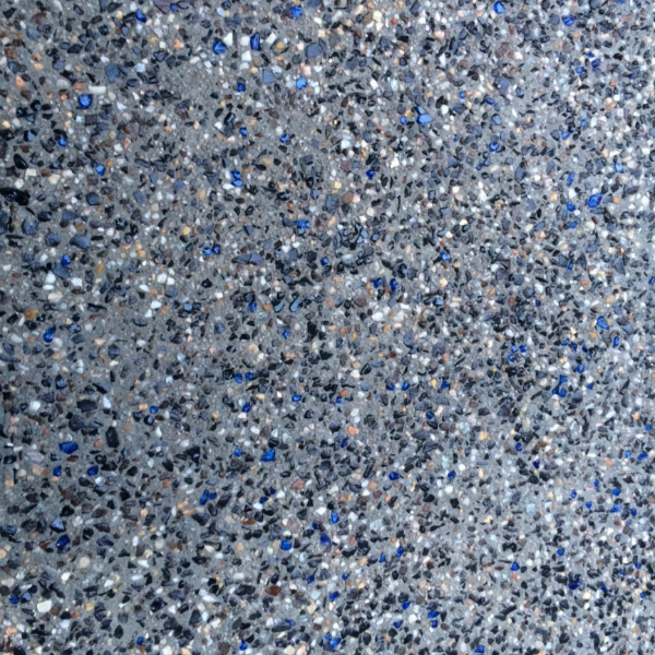 Exposed aggregate paving with blue and green glass beads ... |Glass Aggregate