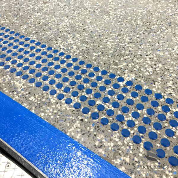 blue glass in concrete1