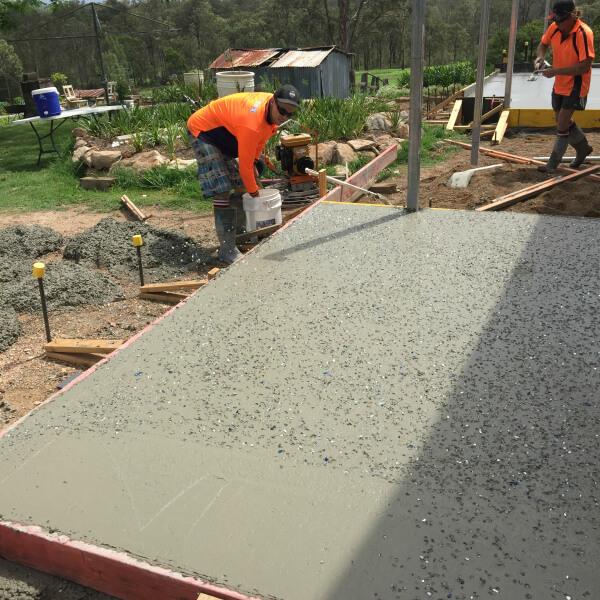 concrete seeding