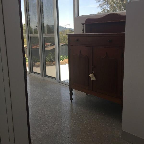 polished concrete floor